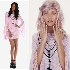 Wildfox Pastel Goth New Mexico Flounce Lace Dress